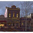 Lipson Street evening by David  Kennett