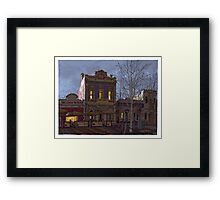 Lipson Street evening Framed Print