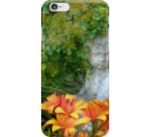 Garden Girl And Orange Lilies Digital Watercolor iPhone Case/Skin