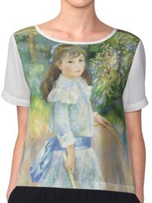 Renoir Auguste - Girl With A Hoop 1885 Chiffon Top