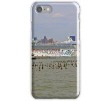 The Cruise Ship Norwegian Gem on the Hudson River iPhone Case/Skin