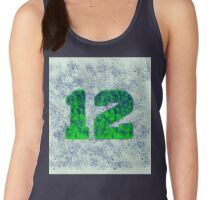 Abstract Team Spirit - Blue On Green Women's Tank Top