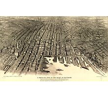 A birds-eye view of the heart of Baltimore Photographic Print
