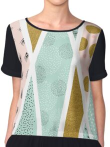 Abstract festive Chiffon Top
