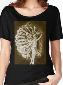 A French Dancer dresses as a Peacock Vintage photograph Women's Relaxed Fit T-Shirt