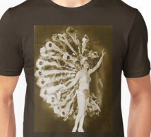 A French Dancer dresses as a Peacock Vintage photograph Unisex T-Shirt