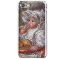 Renoir Auguste - Jean Renoir In A Chair Child With A Biscuit iPhone Case/Skin