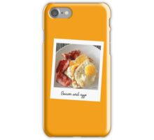 Polaroid bacon and eggs iPhone Case/Skin