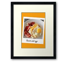 Polaroid bacon and eggs Framed Print