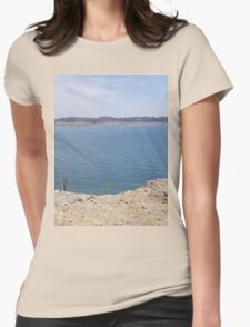 lake side Womens Fitted T-Shirt