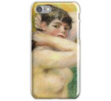Renoir Auguste - Nude Arranging Her Hair 1885 iPhone Case/Skin
