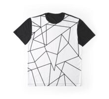 Simple Modern Black and White Geometric Pattern Graphic T-Shirt