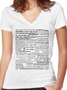 Daryl Dixon Quotes The Walking Dead TWD Vintage Distressed Typography Graphic Norman Women's Fitted V-Neck T-Shirt