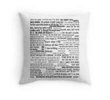Daryl Dixon Quotes The Walking Dead TWD Vintage Distressed Typography Graphic Norman Throw Pillow