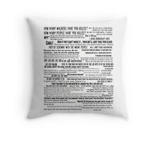 Rick Grimes Quotes The Walking Dead TWD Typography Vintage Distressed Burnout Graphic Throw Pillow