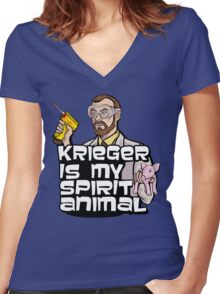 Krieger is my Spirit Animal Women's Fitted V-Neck T-Shirt