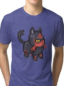 POKEMON LITTEN Pixel Spritelike Tri-blend T-Shirt