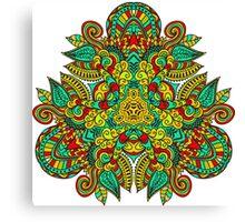 Mandala en triangle, feuilles d'automne Canvas Print