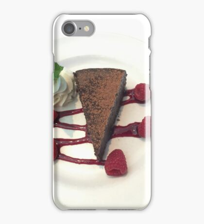 Flourless Chocolate Cake w/Rasberry Sauce and Mint FOODIE If you like, please purchase, try a cell phone cover thanks iPhone Case/Skin