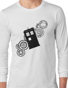 doctor who tardis r Long Sleeve T-Shirt