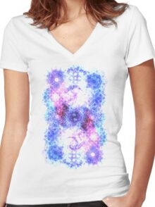 Glyph 34 Women's Fitted V-Neck T-Shirt
