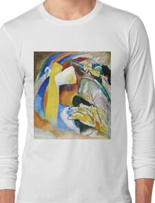 Vassily Kandinsky - Study For Painting With White Form1913  Long Sleeve T-Shirt