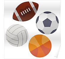 Sports Balls (Icons) Poster