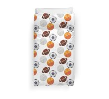 Sports Balls (Icons) Duvet Cover