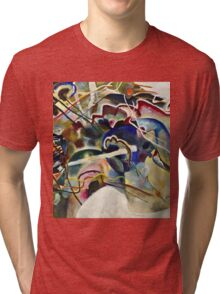 Vassily Kandinsky - Painting With White Border Moscow  Tri-blend T-Shirt
