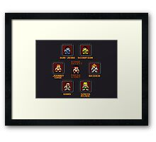8-bit Mortal Kombat 'Megaman' Stage Select Screen Framed Print