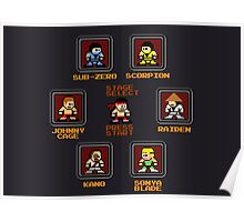 8-bit Mortal Kombat 'Megaman' Stage Select Screen Poster