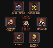 8-bit Mortal Kombat 'Megaman' Stage Select Screen One Piece - Long Sleeve