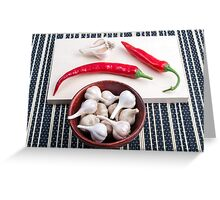 Spice background for cooking Greeting Card