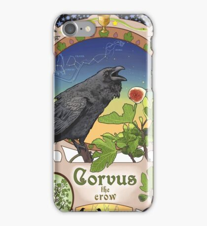 Black Crow and Figs Constellation Corvus and Hydra iPhone Case/Skin