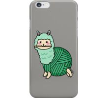 Yarn Alpaca - Green iPhone Case/Skin