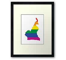 cameroon gay map Framed Print