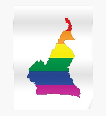 cameroon gay map Poster