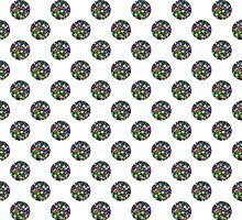 Colorful & Glittery Jeweled Polka Dot Pattern by Mercury McCutcheon