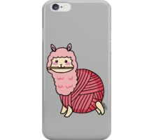 Yarn Alpaca - Pink iPhone Case/Skin