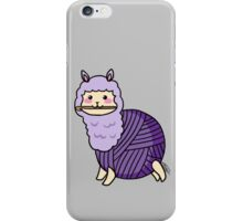 Yarn Alpaca - Purple iPhone Case/Skin
