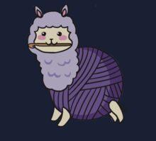 Yarn Alpaca - Purple Kids Tee