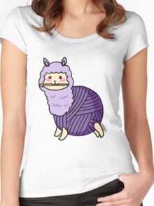 Yarn Alpaca - Purple Women's Fitted Scoop T-Shirt