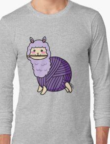Yarn Alpaca - Purple Long Sleeve T-Shirt