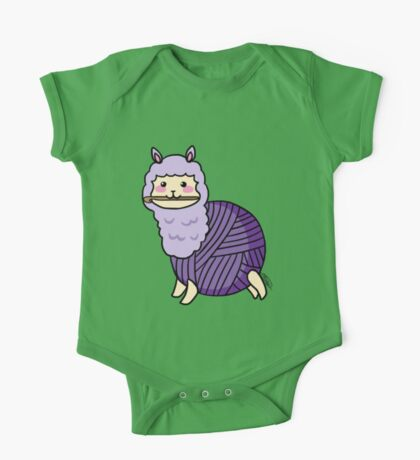 Yarn Alpaca - Purple One Piece - Short Sleeve