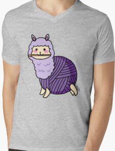 Yarn Alpaca - Purple Mens V-Neck T-Shirt