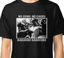 Harambe Hardcore - White Text Classic T-Shirt