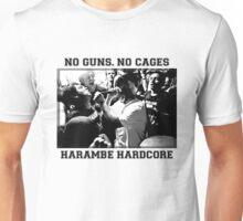 Harambe Hardcore - Black Text Unisex T-Shirt