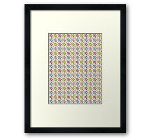 Cute & Colorful Abstract Flowers Pattern Design Framed Print