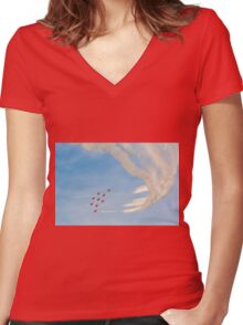 The Red Arrows Women's Fitted V-Neck T-Shirt