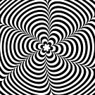 Modern Black & White Geometric Optical Illusion by badbugs